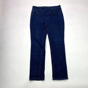 Jag Jeans Pull On High Rise Slim Leg Size 14